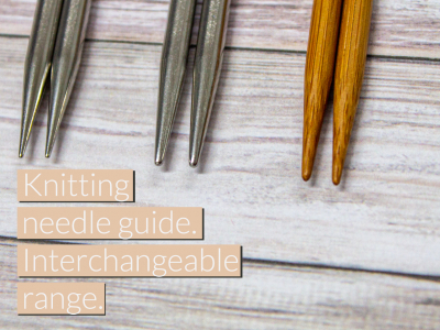 ​HiyaHiya Europe's knitting needle guide. Interchangeable range.