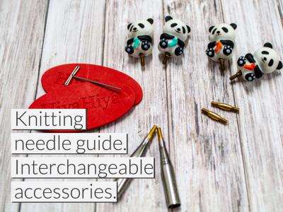 HiyaHiya Europe's knitting needle guide. Interchangeable accessories.