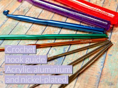 HiyaHiya Europe's crochet guide. Acrylic, aluminium and nickel-plated.