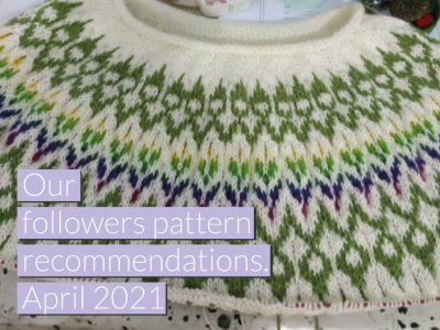 Our followers pattern recommendations April 2021.