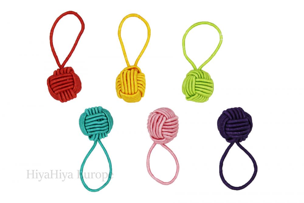 Dumpling Case and Coloured Stitch Markers Set, Image-1