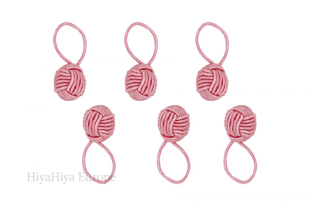 Pink Yarn Ball Stitch Markers, Image-0