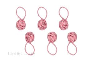Pink Yarn Ball Stitch Markers