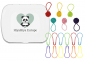 Notion Tin with Coloured Yarn Ball Stitch Markers and Knitter's Safety Pins, Image-0