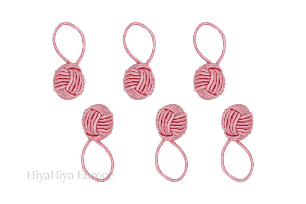 Notion Tin with Pink Yarn Ball Stitch Markers, Image-1