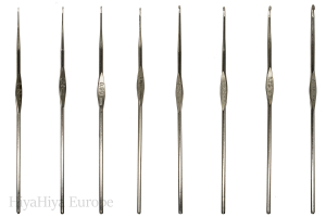 Nickel-Plated Crochet Hooks Bundle