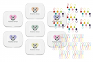 Notion Tin with Coloured Yarn Ball Stitch Markers and Knitter's Safety Pins Bundle